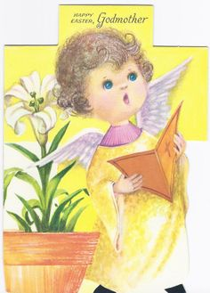 E55 Vintage Unused  Easter Greeting Card for by jarysstuff on Etsy