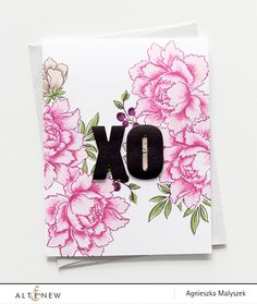 A floral background card using new Altenew inks - Altenew Blog