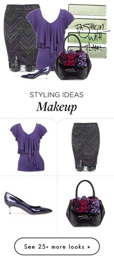 """""""olive & purple"""" by rvazquez on Polyvore featuring WYL, Casadei and Nancy Gonzalez"""