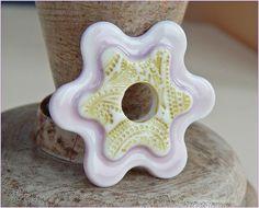 "translucent porcelain . Pendant "" light purple&green "" https://www.facebook.com/groups/CeramicArtBeadMarket/"