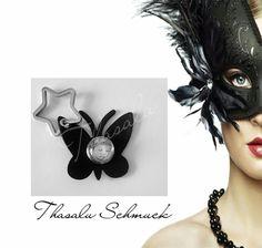 Schmetterlingsschlüsselanhänger mit FotoChunk zu finden bei Thasalu Schmuck in Facebook