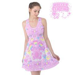 ✨ Bubblegum Bunny Sleeveless Skater Dress ✨ Everyday Cutie Sale ✨ Made To Order ✧ Fairy kei ✧ Decora kei ✧ Mahou kei ✧ Pastel kei ✧ Harajuku Fashion