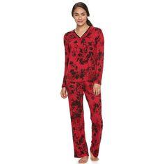 Women's Apt. 9® Pajamas: Satin Trim Pajama Set,