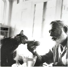 Hemmingway and friend