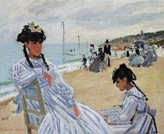 Sur la Plage à Trouville (C Monet - W 162)