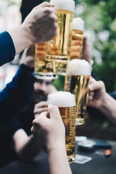 Are you planning on celebrating Oktoberfest this fall? Be sure to stock up on these delicious, traditional Oktoberfest luxury craft beers. Charcuterie, Mojito, Cold Drinks, Alcoholic Drinks, Cocktails, Saint Marcellin, Craft Bier, Oktoberfest Party, Food Lists