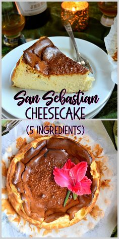 San Sebastian Cheesecake, Birthdays and China – This Is How I Cook Famous Cheesecake from Spain. 5 Ingredients of pure deliciousness to make a light and fluffy and amazing cheesecake! Donuts, Easy Desserts, Delicious Desserts, Dessert Recipes, Cupcake Recipes, Cheesecake Recipes, Spanish Cheesecake Recipe, Cakes And More, Sweet Recipes