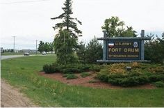 Entering Fort Drum NY