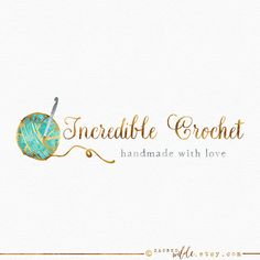 Watercolor Crochet Logo Design  Watercolour Crochet by SacredWilde