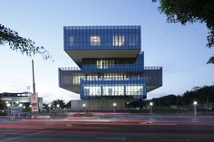 """Tatiana Bilbao: """"Architecture Should Benefit Every Single Human Being on This Planet"""",Bioinnova, Culiacán Rosales, Mexico, Image © Iwan Baan Box Architecture, Commercial Architecture, Amazing Architecture, Contemporary Architecture, Bilbao, Planet Photo, Solar Shades, Glass Boxes, House Plans"""