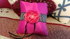 Check out this item in my Etsy shop https://www.etsy.com/listing/516457758/ring-bearer-pillow-pink-with-chevron