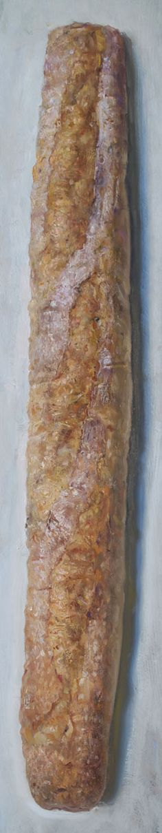 "Duane Keiser. Baguette. oil/board, 24"" x4,"" 2012. This made me happy."