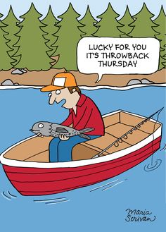 Throwback Thursday Fishing Postcard Pack (5 Cards)