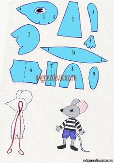 Photo - Her Crochet Plushie Patterns, Doll Patterns, Sewing Patterns, Sewing Toys, Sewing Crafts, Rat Toys, Mouse Crafts, Diy Y Manualidades, Crochet Mouse