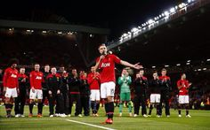 Nemanja Vidic says farewell to United fans at Old Trafford.
