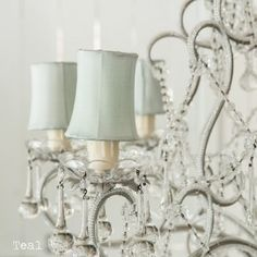Blue Petite Chandelier Shades By Rachel Ashwell Shabby Chic Couture <3