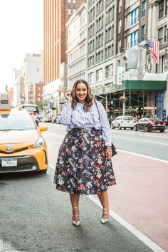 Painted Leather Midi Skirt   Plus Size Leather Skirt  NYFW http://rstyle.me/cz-n/csrufi4naw