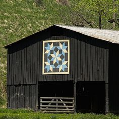 Kentucky Barn Quilt - Snow Crystals All images © M.C. Story. All rights…
