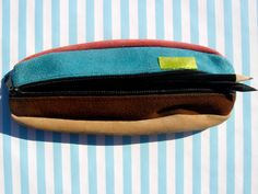 Nobuck leather pencil cases by portugueseurban on Etsy, $10.00