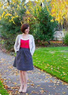 confetti sparkle everyday skirt // skirt as top