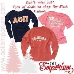 Black Friday Sale for the AOII Emporium!! Repin this and let all your sisters know!! Lots of great products discounted!!