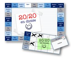 20/20 en dictée - jeu en orthographe - La classe de Mallory Core French, French Class, French Lessons, French Teacher, Teaching French, Classroom Management Techniques, French Worksheets, French Grammar, Best Teacher