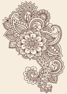 paisley designs | Paisley henna tattoo design