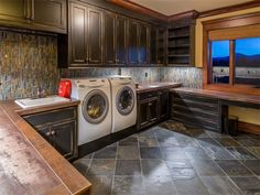 Laundry room of luxury home in Bend, Oregon