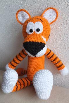 Häkelanleitung Tiger Walter DaWanda  Crochet tiger pattern