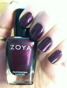 Zoya Nail Polish in Jem is a Red, Purple, Metallic Nail Polish Color.Buy Zoya Nail Polish in Jem and see swatches and color descriptions. Metallic Nail Polish, Zoya Nail Polish, Nail Polish Colors, Nail Envy, Nail Polish Collection, Beauty Makeup, Beauty Tips, Gyaru, Makeup Yourself