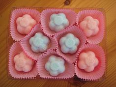 Bath bombs.  This is so cute in the cupcake liners.