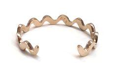 Image of Wavy Line Cuff - Brass