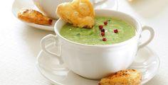 Zupa krem z porów z serowymi grzankami