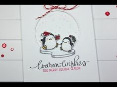 CHRISTMAS CARD: Adding glitter to your images - YouTube