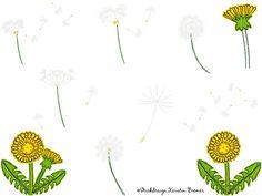 Pusteblumen doodle Stickdateien Set von KerstinBremer.de. So cute ♥ dandelion machine embroidery designs #sticken #löwenzahn