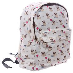 Handy Kids School and Everyday Rucksack Pug Design | eBay