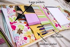 teacher tote tutorial.... I am thinking great for organized mom on the go with various activities!