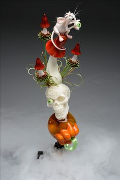We hope this creates some motivation and inspiration: Chocolate Showpiece, Chocolate Art, Edible Flowers, Sugar Flowers, Blown Sugar Art, Chocolat Halloween, Pulled Sugar Art, Kai Arts, Food Sculpture