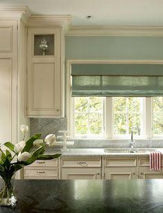 Cabinet - cream & blue