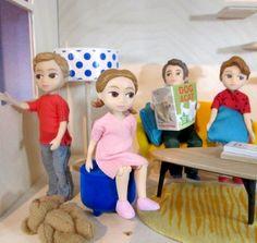 laleczki do domku dla lalek - marki Djeco (do kupienia na www.fufurufu.pl)