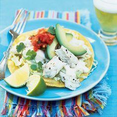 Halibut Tostadas with Yogurt-Lime Sauce - Quick & Easy Summer Dinner Recipes - Sunset