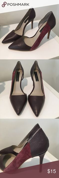Steve Madden heels Great for office or out! Steve Madden maroon pointed toe heel. Steve Madden Shoes Heels