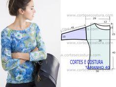 molde de blusa básica