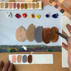 Art Painting Gallery, Painting & Drawing, Oil Painting Lessons, Mixing Paint Colors, Color Mixing Chart, Art Techniques, Oil Painting Techniques, Palette Art, Diy Canvas Art