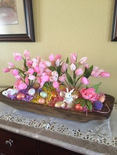 Easter Easter Tree, Easter Wreaths, Easter Gift, Happy Easter, Easter Crafts For Adults, Bar A Bonbon, Easter 2018, Dough Bowl, Bread Bowls