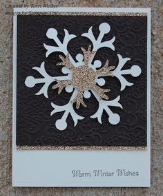 Snow Flurry Christmas Card