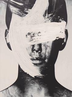 Y'a des jours où on ne peut plus se voir en peinture… / By Michał Mozole… There are days when you can no longer see yourself in painting … / By Michał Mozolewski. L'art Du Portrait, Digital Portrait, Portraits, Inspiration Art, Art Inspo, Art Sketches, Art Drawings, Tattoo Drawings, Modern Art