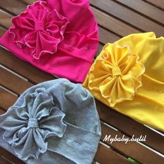 Baby Turban, Turban Headbands, Floral Headbands, Baby Headbands, Turban Hat, Diy Hat, Winter Kids, Summer Diy, Baby Hats