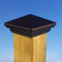 cambridge 6x6 metal solar post cap black pyramid modular aluminum post cap black