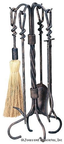 Western Style Fireplace Tool Set
